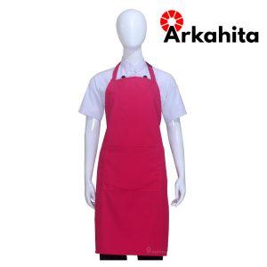 Apron Chef Apron Masak Satu Kantong Merah Muda