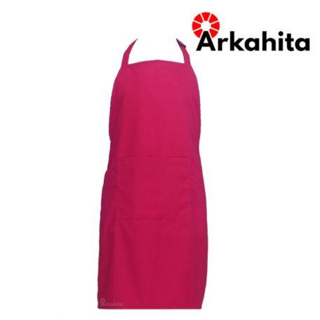 Apron Chef Apron Masak Satu Kantong Merah Muda-5