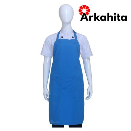Apron Chef atau Apron Masak Dua Kantong Biru Muda