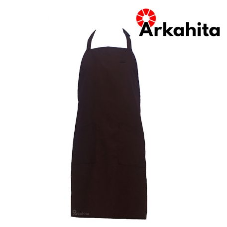 Apron Chef atau Apron Masak Dua Kantong Cokelat-5