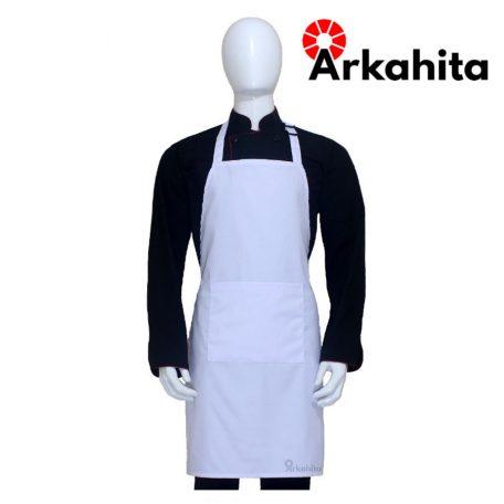 Apron Chef atau Apron Masak Satu Kantong Putih