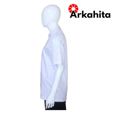 Baju Chef Baju Koki Lengan Pendek Putih Polos CS101-3