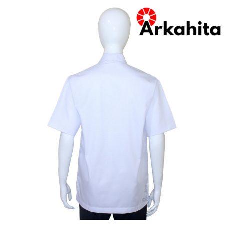 Baju Chef Baju Koki Lengan Pendek Putih Polos CS101-4