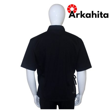Baju Chef Sushi atau Baju Koki Sushi Hitam-4