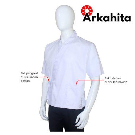 Baju Chef Sushi atau Baju Koki Sushi Putih-2