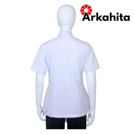 Baju Chef Wanita atau Baju Koki Wanita Lengan Pendek Putih CW201-4