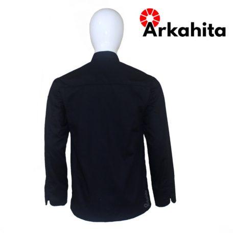 Baju Chef atau Baju Koki Lengan Panjang Hitam CL202-4