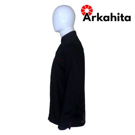 Baju Chef atau Baju Koki Lengan Panjang Hitam CL203-3