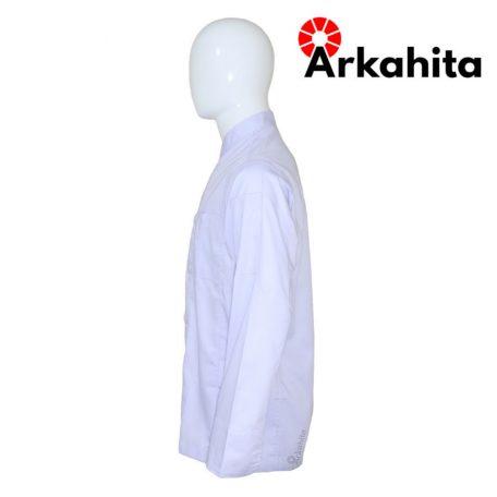 Baju Chef atau Baju Koki Lengan Panjang Putih CL101-3