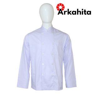 Baju Chef atau Baju Koki Lengan Panjang Putih CL101