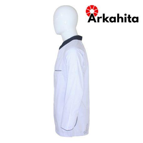 Baju Chef atau Baju Koki Lengan Panjang Putih Kombinasi 2 CL103-3