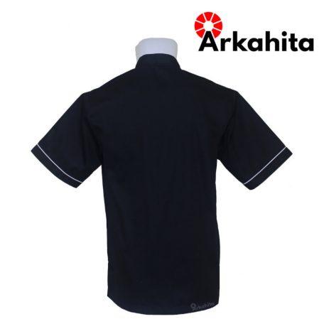 Baju Chef atau Baju Koki Lengan Pendek Hitam CS201-3