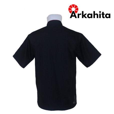 Baju Chef atau Baju Koki Lengan Pendek Hitam CS202-3