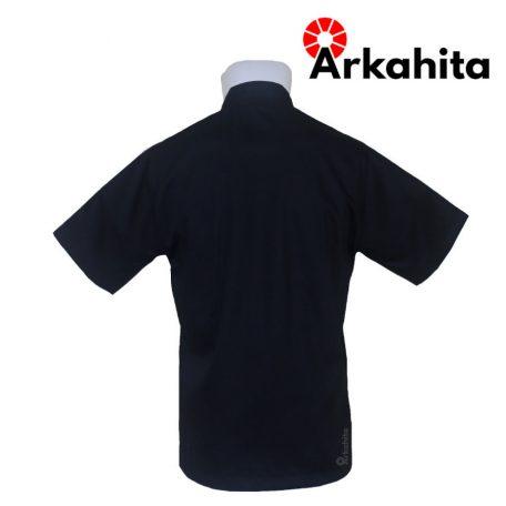 Baju Chef atau Baju Koki Lengan Pendek Hitam CS205-3