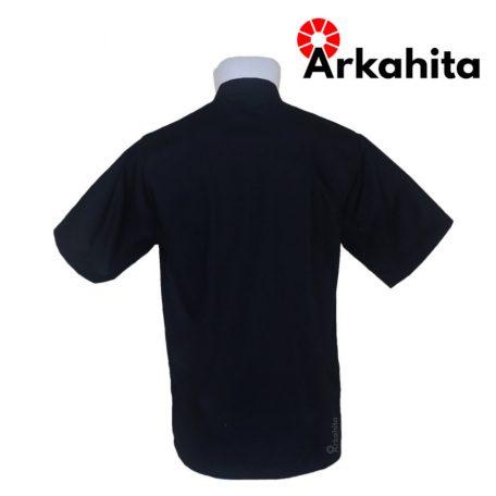 Baju Chef atau Baju Koki Lengan Pendek Hitam Polos CS203-3