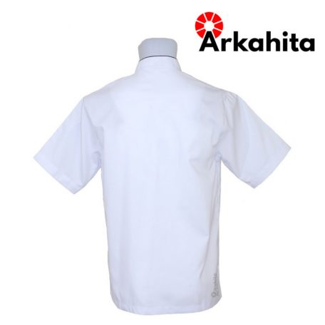 Baju Chef atau Baju Koki Lengan Pendek Putih CS102-3