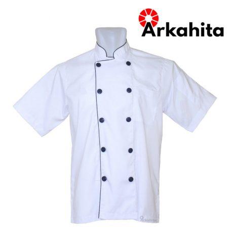 Baju Chef atau Baju Koki Lengan Pendek Putih CS102