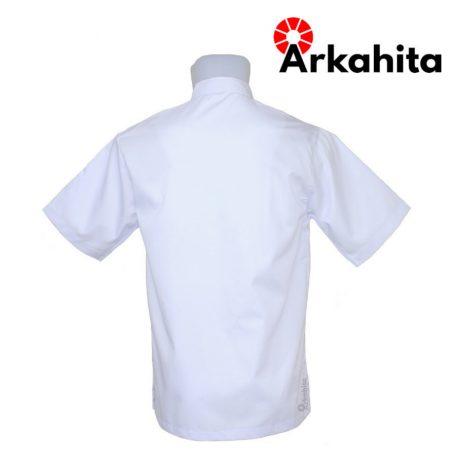 Baju Chef atau Baju Koki Lengan Pendek Putih Polos CS101-3