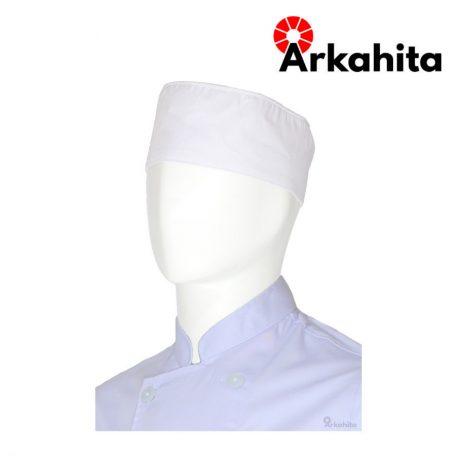 Topi Chef Topi Koki Skull Cap Putih-2