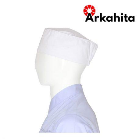 Topi Chef Topi Koki Skull Cap Putih-3