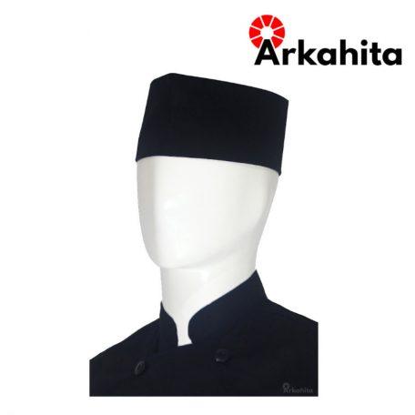 Topi Chef atau Topi Koki Peci Hitam-2
