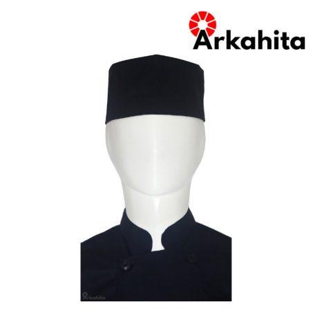 Topi Chef atau Topi Koki Peci Hitam