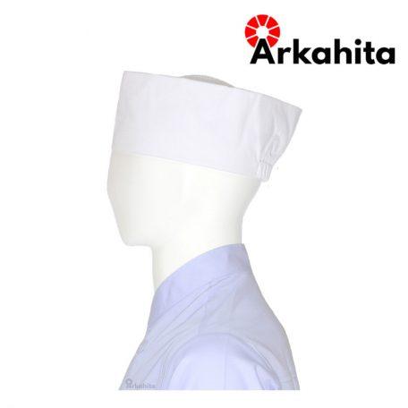 Topi Chef atau Topi Koki Peci Putih-3