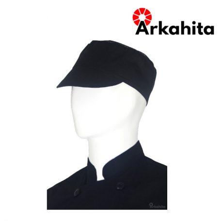 Topi Chef atau Topi Koki Produksi Hitam-2