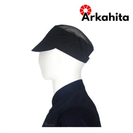 Topi Chef atau Topi Koki Produksi Hitam-3