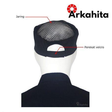 Topi Chef atau Topi Koki Produksi Hitam-4