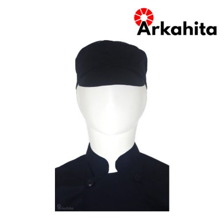 Topi Chef atau Topi Koki Produksi Hitam