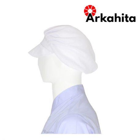 Topi Chef atau Topi Koki Produksi Putih-3