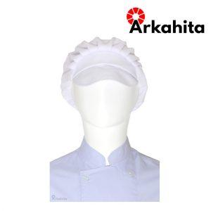 Topi Chef atau Topi Koki Produksi Putih
