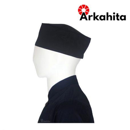 Topi Chef atau Topi Koki Skull Cap Hitam-2