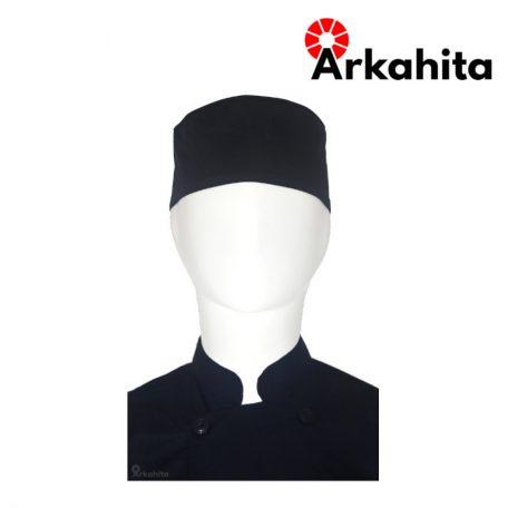 Topi Chef atau Topi Koki Skull Cap Hitam