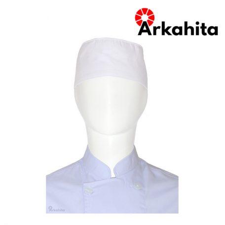 Topi Chef atau Topi Koki Skull Cap Putih