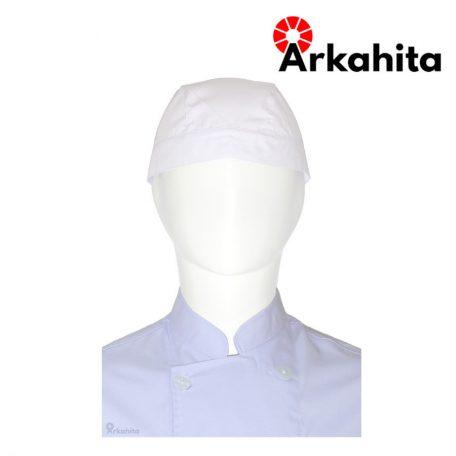 Topi Chef atau Topi Koki Bertali Putih