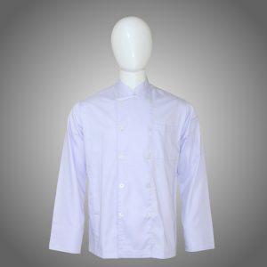 Baju Chef Lengan Panjang (Baju Koki Lengan Panjang atau Baju Memasak)