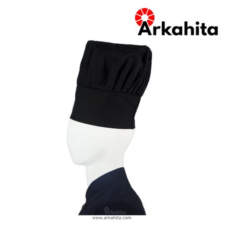 Topi Chef atau Topi Koki Jamur Hitam-3