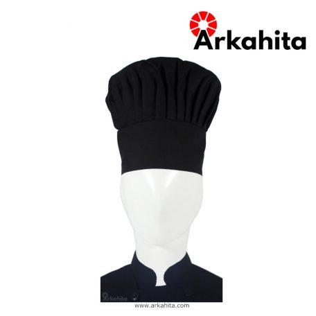 Topi Chef atau Topi Koki Jamur Hitam