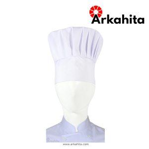 Topi Chef atau Topi Koki Jamur Putih