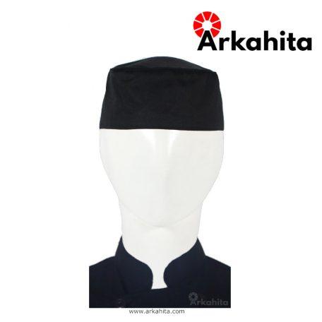 Topi Chef atau Topi Koki Skull Cap Bertali Hitam
