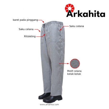 Informasi Detail Celana Chef Motif Kotak-kotak